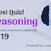 IBPS PO/Clerk | SSC Reasoning Quiz | Latest pattern Based 2019