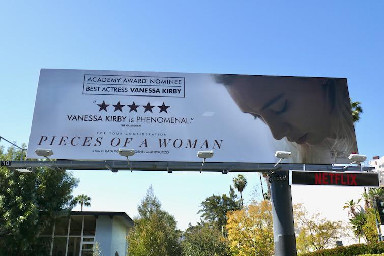 Pieces of a Woman Academy Award nominee billboard