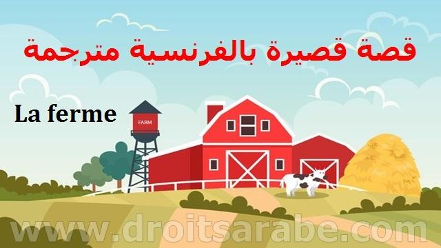قصة بالفرنسية مترجمة بالعربية، قصة بالفرنسية مترجمة للغة العربية