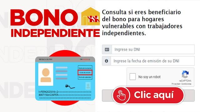 760 SOLES: Bono Independiente