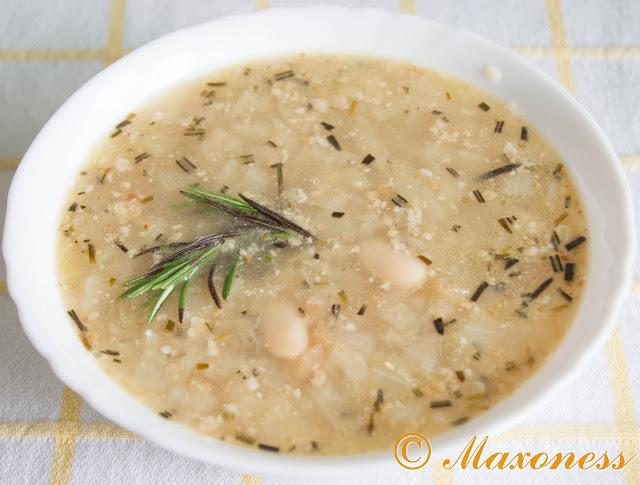 Фасолевый суп с капустой и розмарином. Итальянская кухня