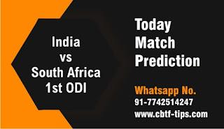Who will win Today International 1st match IND vs RSA ODI 2020?