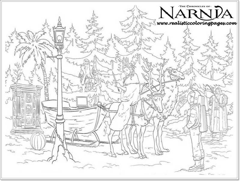 Chronicles Of Narnia Colouring Sheet Realistic Coloring