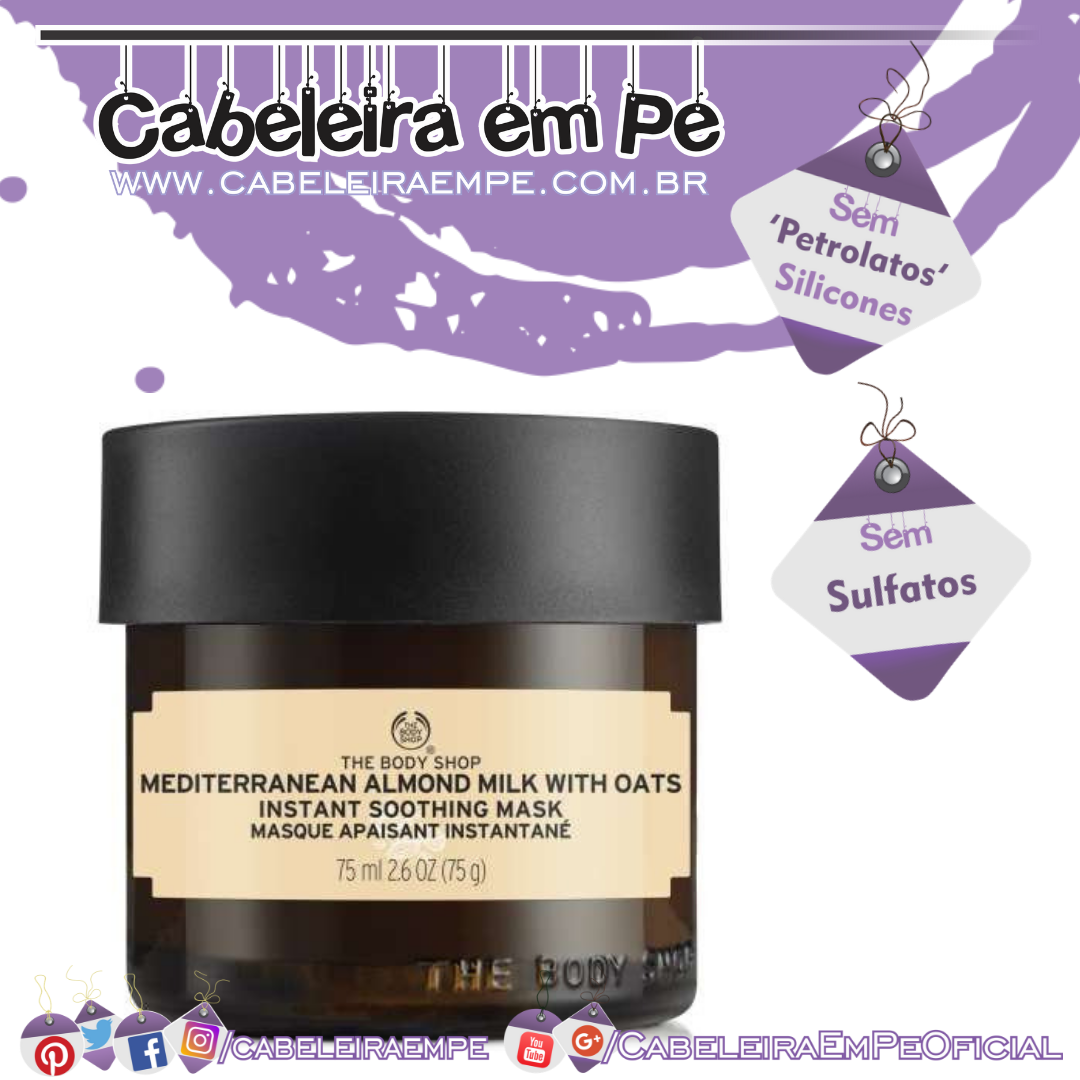 Máscara De Leite De Amêndoas Do Mediterrâneo Com Aveia - The Body Shop