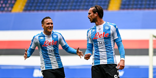 ملخص واهداف مباراة نابولي وسامبدوريا (2-0) الدوري الايطالي