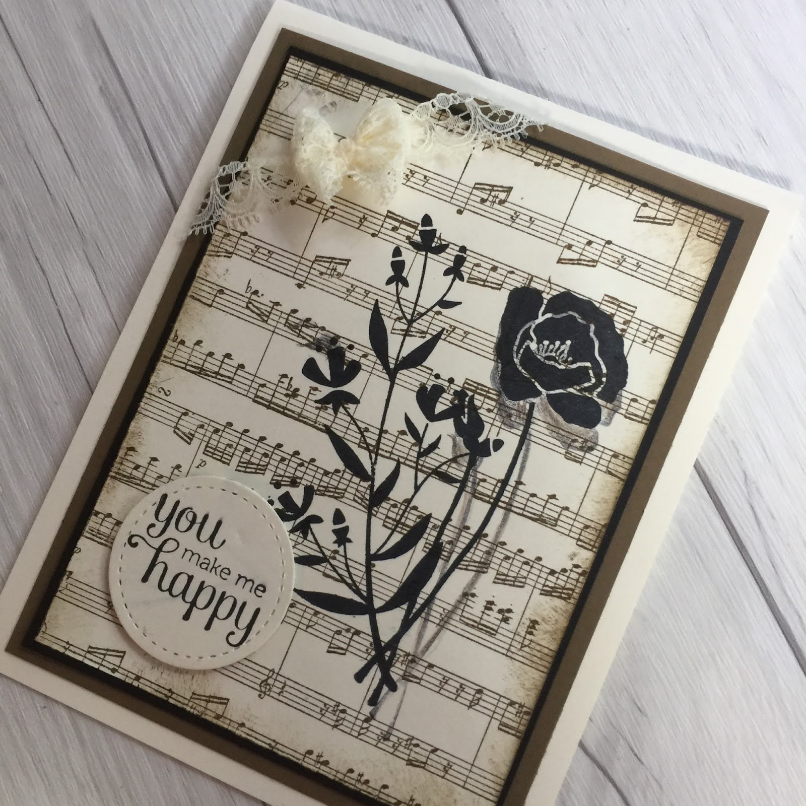 Stamped Sophisticates Sheet Music Background Stamp