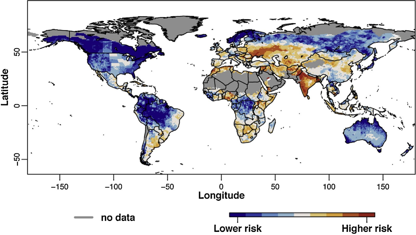 Global map of drought risk, from new JRC study