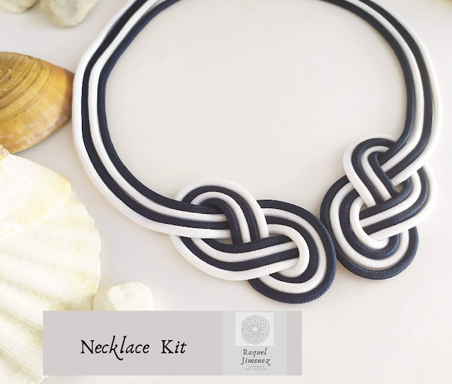 kit para hacer un collar de nudos