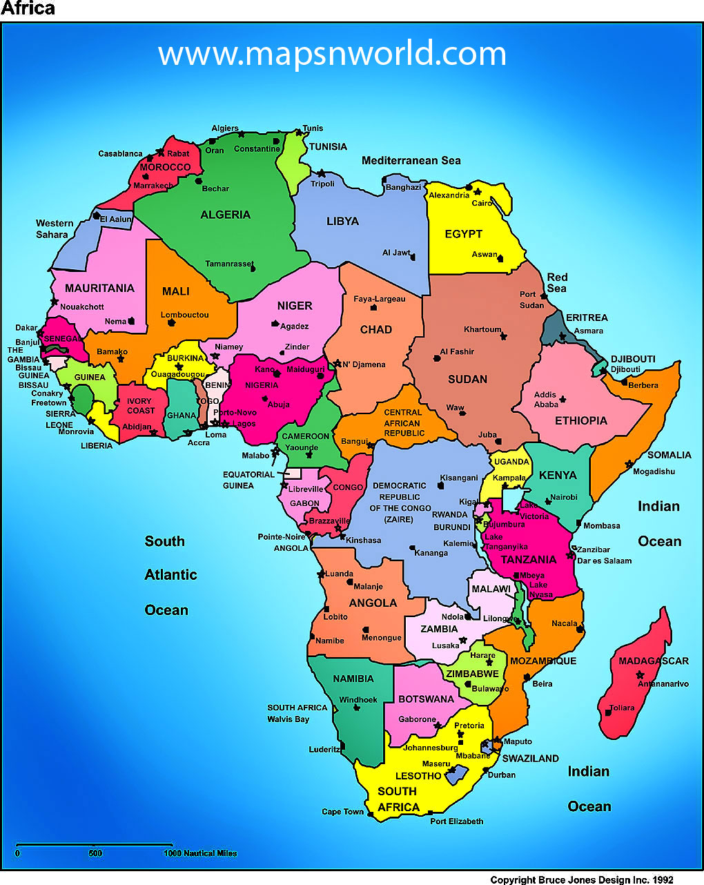My 7th grade social studies experience: Political Map of Africa