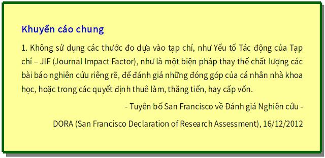 'Tuyên bố San Francisco về Đánh giá Nghiên cứu' - bản dịch sang tiếng Việt
