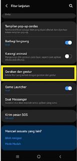 Cara Buka Layar dengan ketuk Hp Samsung