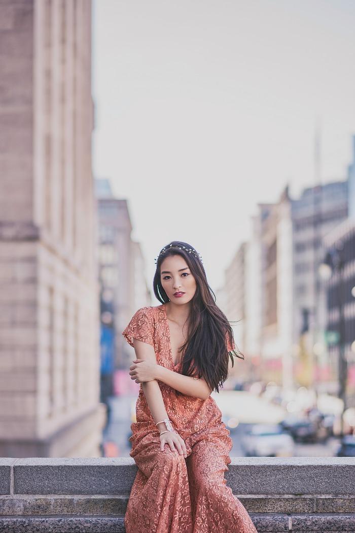 ASOS orange maxi dress