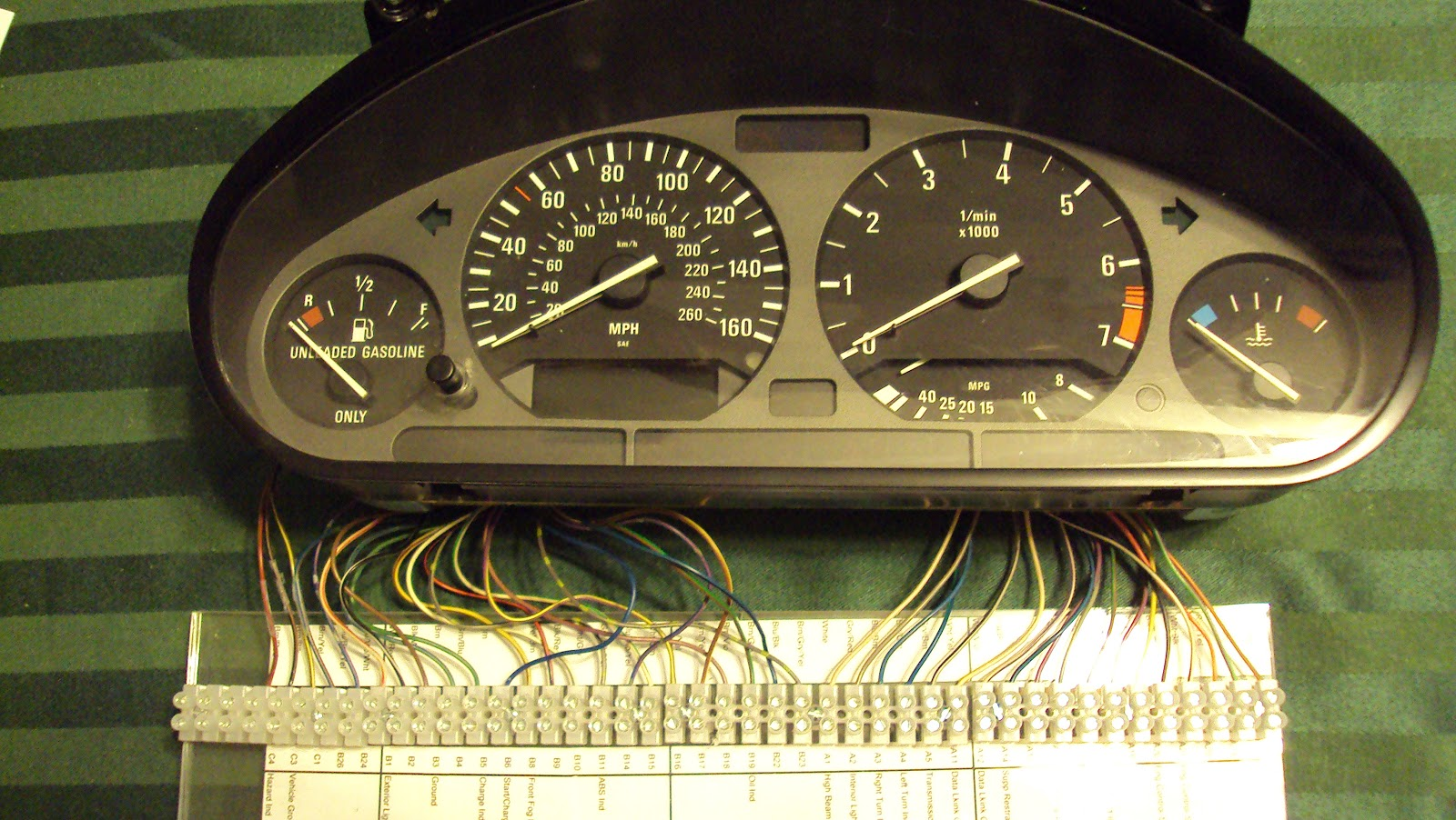 bmw e36 cluster wiring