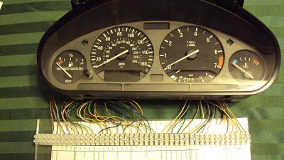 William's EV Bimmer 325i: 1992 BMW 325i Instrument Cluster 1.0 on