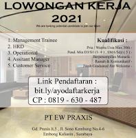 Lowongan Kerja Surabaya di PT. Ew Praxis Januari 2021