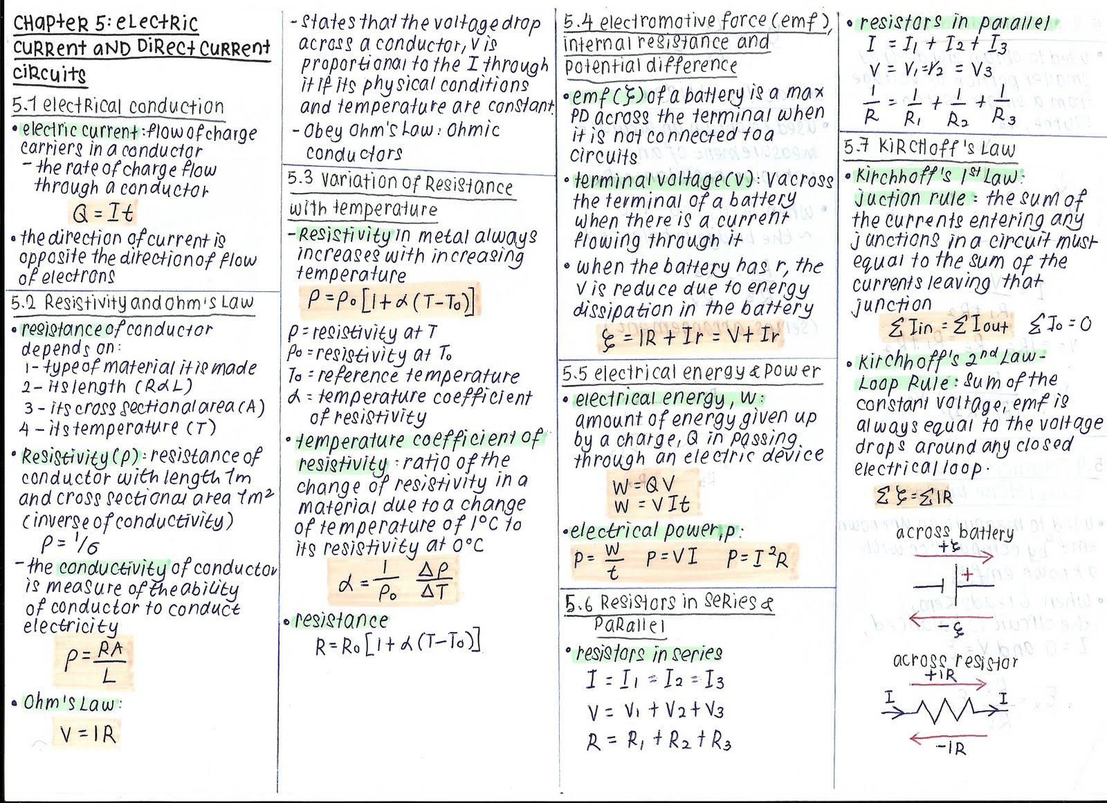 Physics week 1 summary