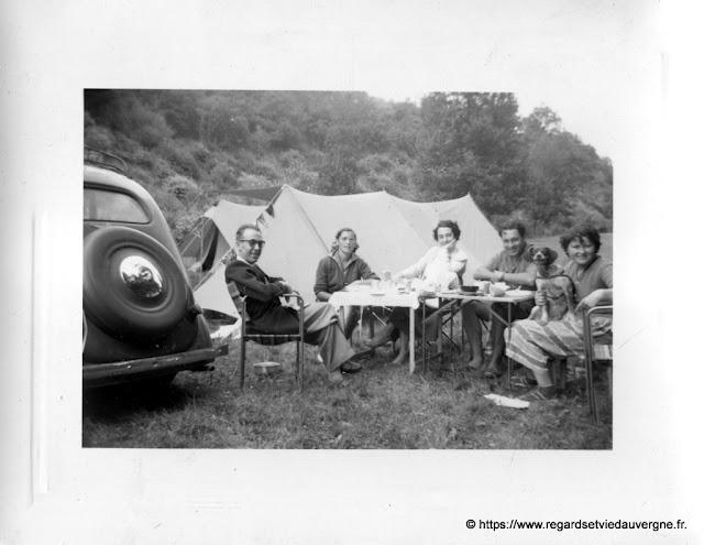 Photo de vacances, camping en 1953.