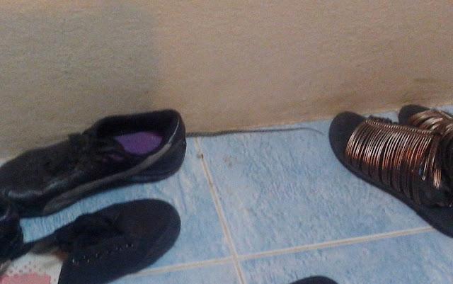 змея под ботинком