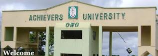 Achievers University Registration Deadline & Penalty 2020/2021