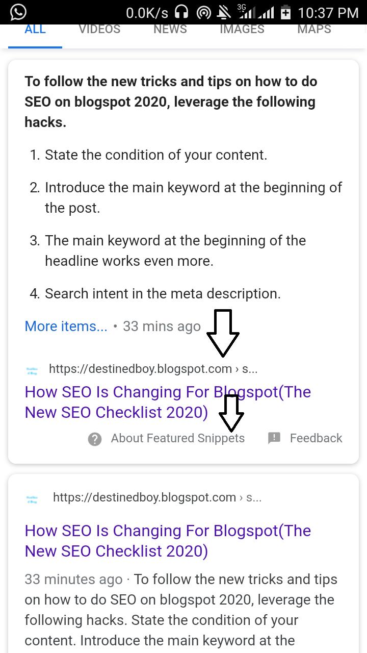 google blogger seo