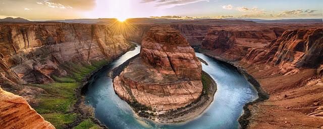 El espesor de los estratos de los distintos sedimentos va desde unos cuantos centímetros hasta cientos de metros, el Gran Cañón del Río Colorado es perfecto para ejemplificar las rocas sedimentarias estratificadas