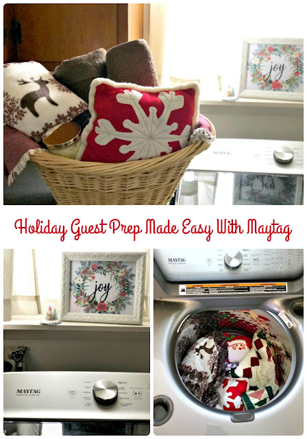 Can you all believe that the holiday season is almost here?! I'll be entertaining a LOT of visitors this year, so I got a jump on my guest laundry prep – thanks to my new Maytag top load laundry set. #ad