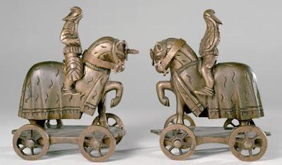 Bronze toy knight