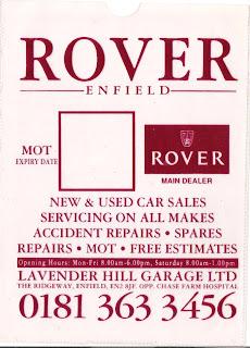 Lavender Hill Garage - Enfield MOT_Plastic Pocket