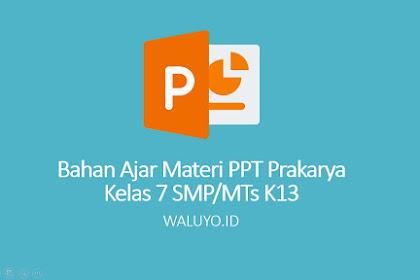 Lengkap - Download Materi PPT Pembelajaran Prakarya Kelas 7 SMP/MTs Kurikulum 2013