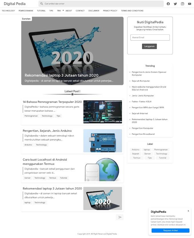 Blog Digital Pedia Bahas Dunia IT