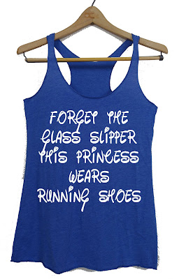 Forget the glass slipper princess running shoes tank top shirt