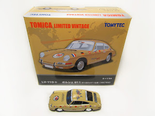 Tomica Limited Vintage LV-110b 1967 Porsche 911 World Tour Vers.