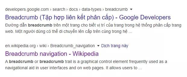Thêm dữ liệu có cấu trúc Breadcrumb trong bài viết blogspot