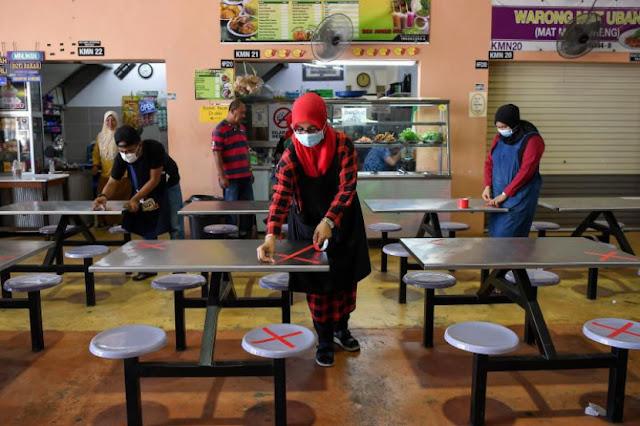 PKP 2.0: Operasi Kedai Makan & Restoren Dilanjutkan Sehingga 10 Malam