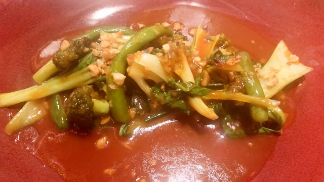 Green Vegetables in Tomato Sauce