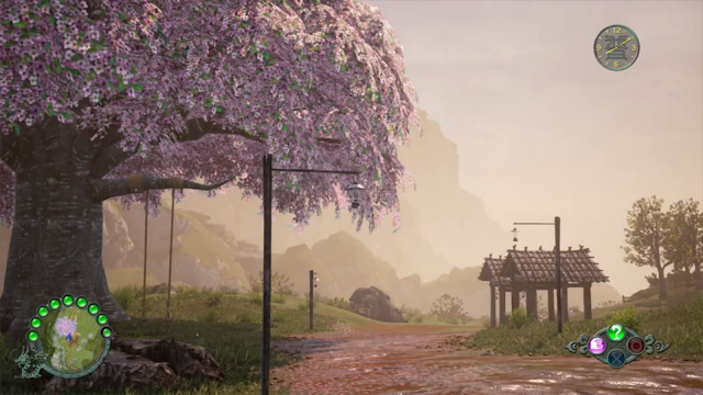Shaders were developed to allow objects, the terrain, and Ryo's clothes to look wet when it rains.