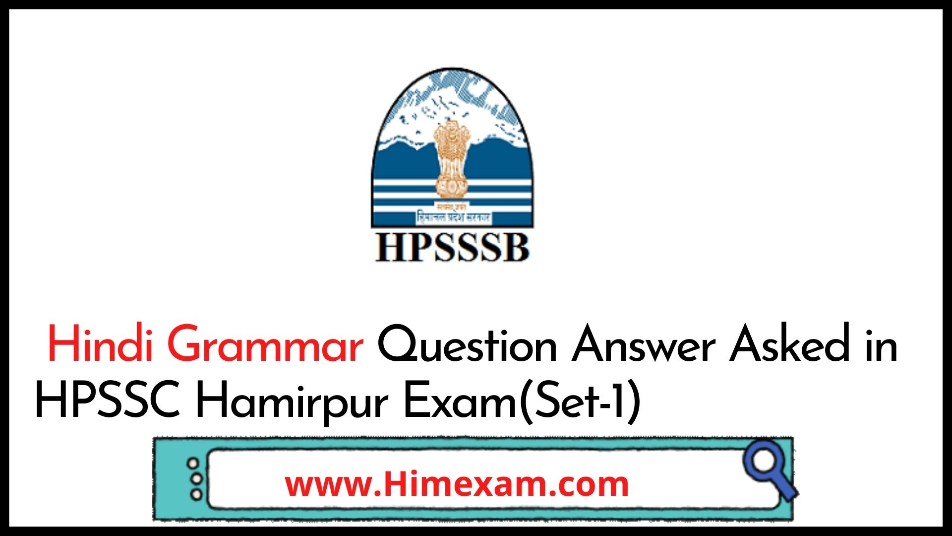 Hindi Grammar Question Answer Asked in HPSSC  Exam(Set-1)