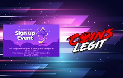 Airdrop Gini Fun Event Registrasi