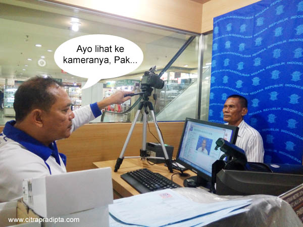 Proses Pengambilan Foto untuk SIM