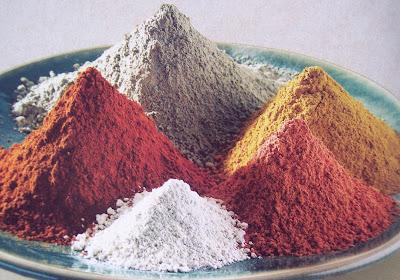 cores da argila