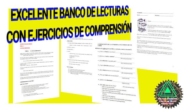 LECTURAS CON EJERCICIOS DE COMPRENSIÓN