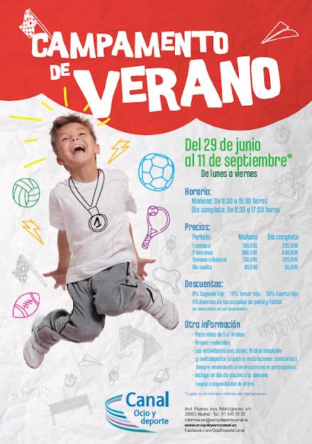 Campamento Multideporte Verano 2020 en Canal Ocio y Deporte. ¡Apunta a tus hij@s!
