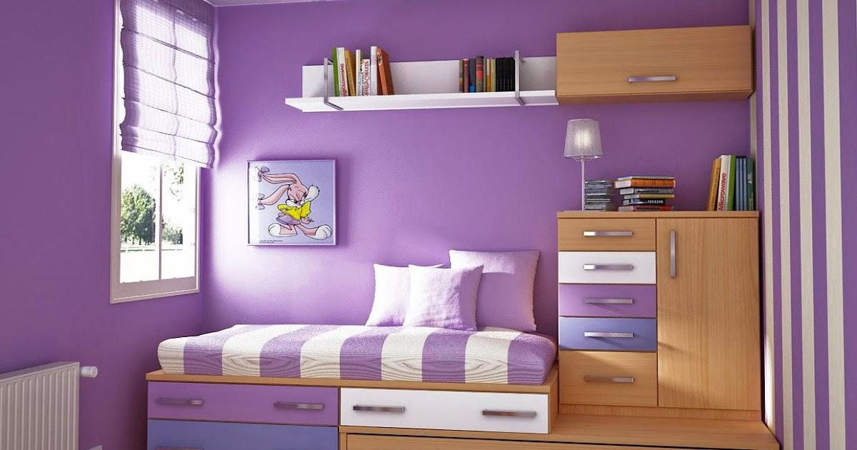 Contoh kombinasi cat warna ungu untuk kamar | Minima ...