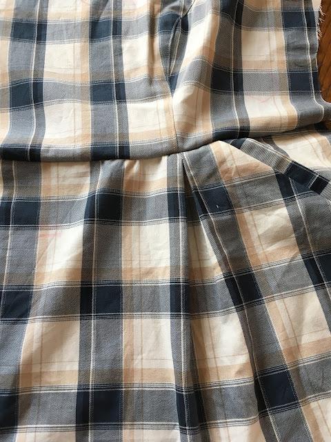 Sew along, Luzerne, sergé tartan,Deer and Doe, Fil Etik
