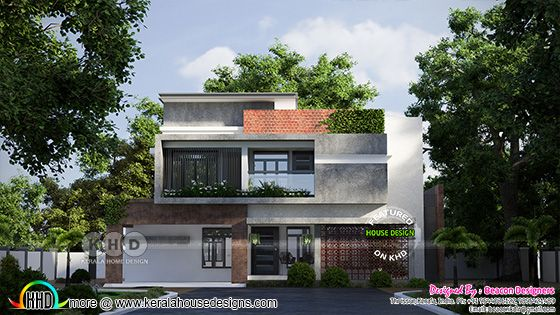 Green home design in contemporary style