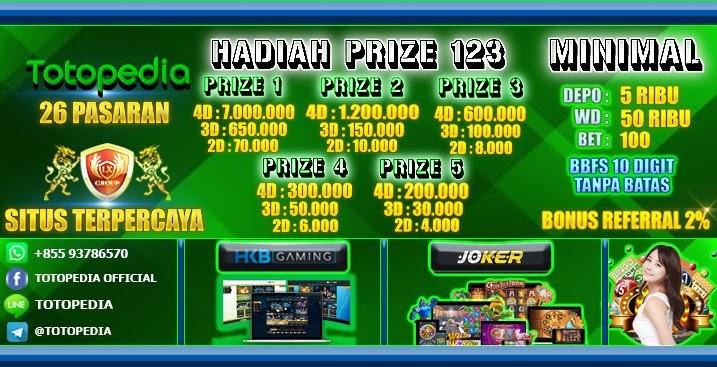 Totopedia (Membayarkan Hadiah Sampai Prize 12345) Dan Live