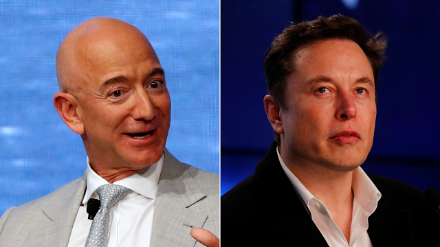 Elon Musk & Jeff Bezos are fighting for the Satellites Internet.