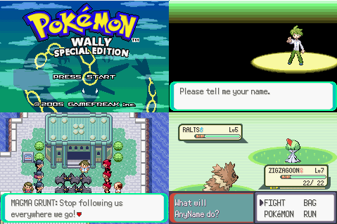 Pokemon Emerald - Wally Version GBA ROM Download