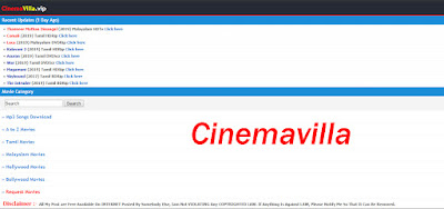 Cinemavilla 2020- Tamil Malayalam HD Movies Download