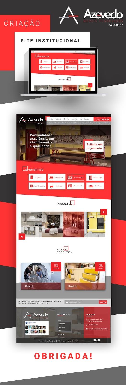 Criação site - Azevedo Móveis Planejados